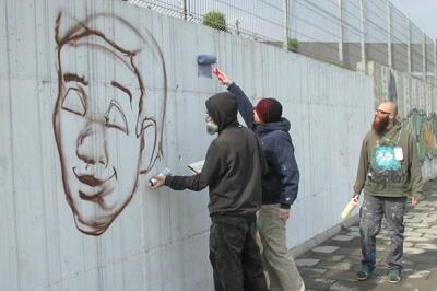 Графити разкрасиха парк в Г. Оряховица