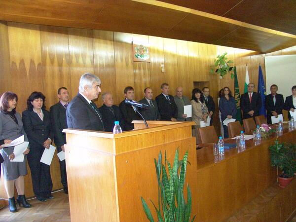 Кметовете от 5 общини получиха символите на властта