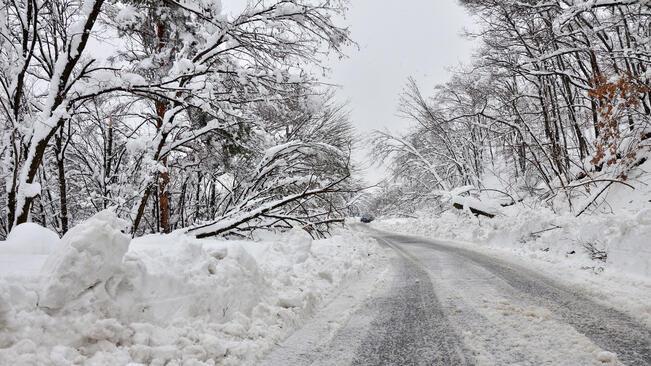 Най-много сняг е натрупал в Кнежа и Ловеч