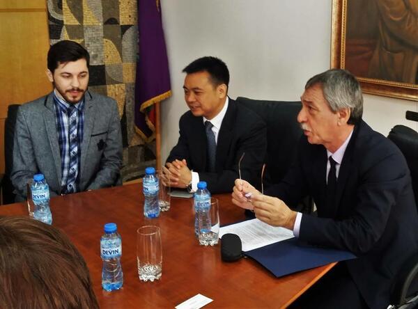 ВТУ ще си сътрудничи с Китайската академия за обучение на кадри