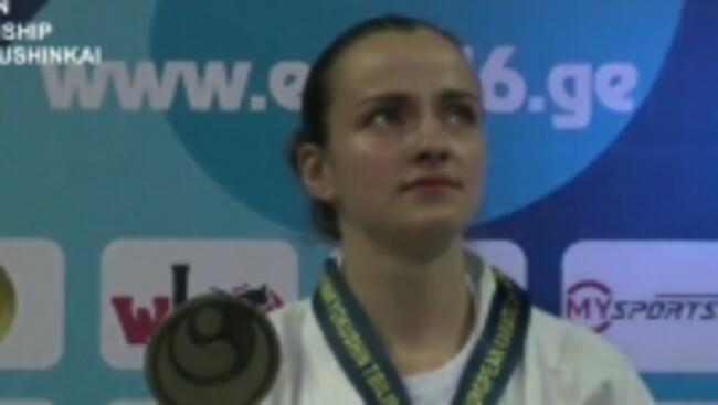 Севлиевката Виолета Литовска с нова европейска титла по карате