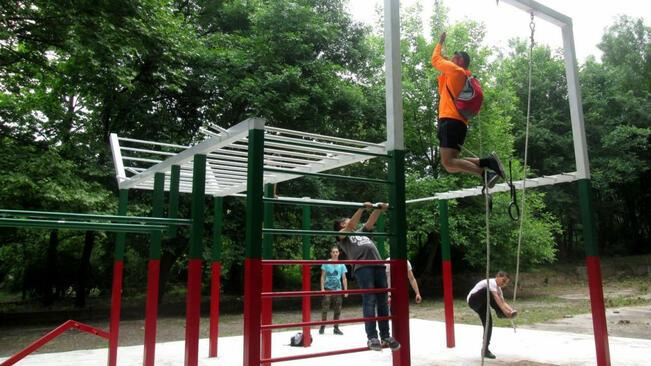 Плевен с нова площадка за фитнес на открито