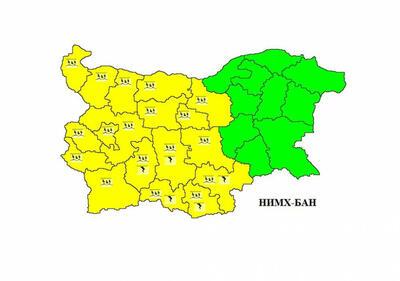 Жълт код в oбласт Велико Търново, предупреждават за обилни валежи