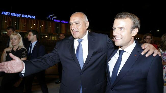 Френският президент на визита във Варна