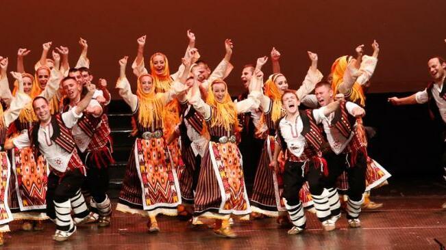 Музикалната и танцова програма по време на ХV Международен панаир на традиционните занаяти