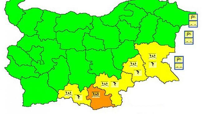 Дъжд и вятър във вторник, жълт код за крайбрежието ни